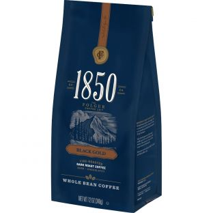 1850™ Black Gold;Dark Roast Whole Bean Coffee (12 oz)
