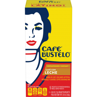 Café Bustelo® Café con Leche Artificially Flavored Instant Coffee Beverage Mix 5ct Box