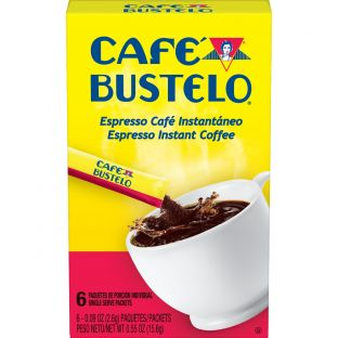 Café Bustelo® Espresso Coffee Single Serve Packets 6ct Box