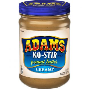 Adams No Stir Creamy Peanut Butter