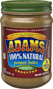 Adams® Natural Crunchy Unsalted Peanut Butter (16 oz)