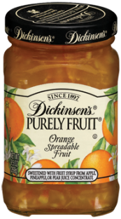 Dickinson's® Purely Fruit® Orange Spreadable Fruit (9.5 oz)