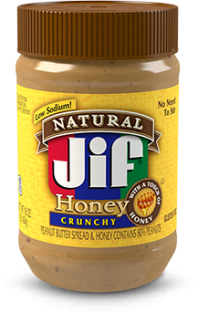 Jif® Natural Crunchy Peanut Butter & Honey Spread (16 oz)