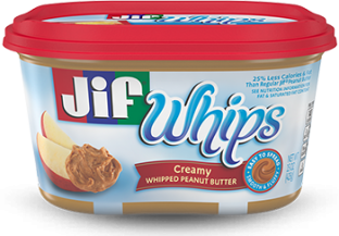 Jif® Whipped Creamy Peanut Butter Spread (15 oz)