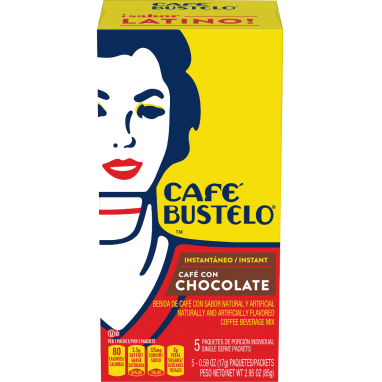 Café Bustelo® Café con Chocolate Naturally and Artificially Flavored Instant Coffee Beverage Mix	 5ct Box