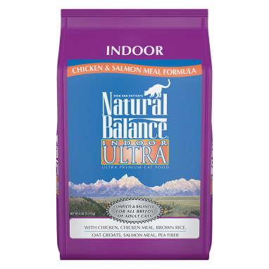 Natural Balance® Indoor Ultra Chicken Meal & Salmon Meal Dry Cat formula 6 lb. Bag