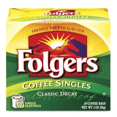 Folgers Coffee Singles® Classic Decaf Coffee (19 Count)