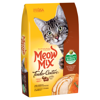Meow Mix® Tender Centers® Salmon & Turkey Flavors with Vitality Bursts 13.5lb Bag