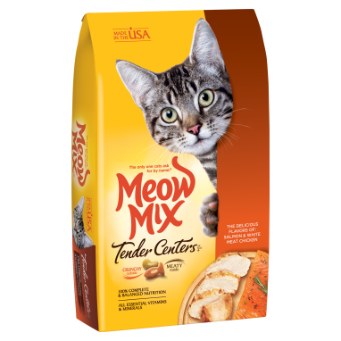 Meow Mix® Tender Centers® Salmon & White Meat Chicken Flavors 3lb Bag