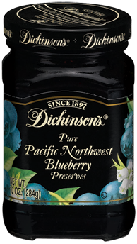 Dickinson's® Pacific Northwest Blueberry Preserves (10 oz)