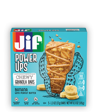 Jif® Power Ups® Chewy Granola Bars;Banana with Peanut Butter (5 Count)