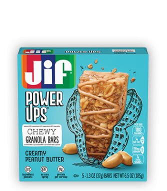 Jif® Power Ups® Chewy Granola Bars;Creamy Peanut Butter (5 Count)