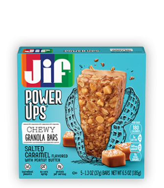 Jif® Power Ups® Chewy Granola Bars;Salted Caramel Flavored with Peanut Butter (5 Count)