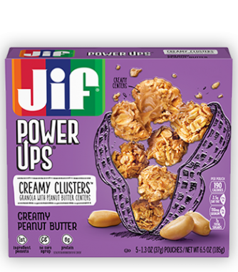 Jif® Power Ups® Creamy Clusters;Creamy Peanut Butter (5 Count)