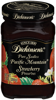 Dickinson's® Pacific Mountain® Seedless Strawberry Preserves (10 oz)