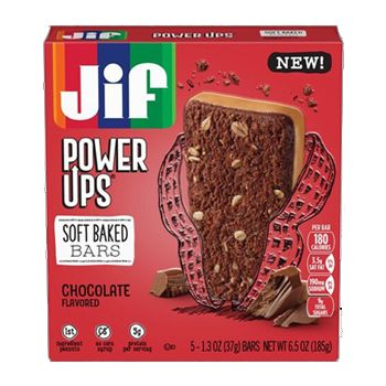 Jif® Power Ups® Soft Baked Bars;Chocolate with Peanut Butter (5 Count)