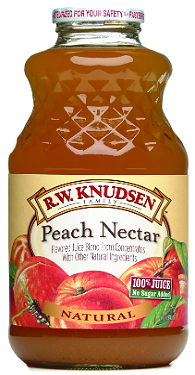 R.W. Knudsen Family® Peach Nectar Juice;32 oz.