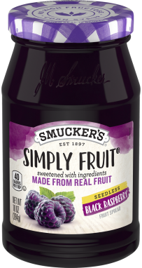 Smucker's® Simply Fruit® Seedless Black Raspberry Spreadable Fruit (10 oz)