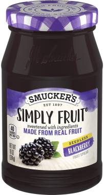 Smucker's® Simply Fruit® Seedless Blackberry Spreadable Fruit (10 oz)