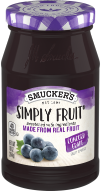 Smucker's® Simply Fruit® Concord Grape Spreadable Fruit (10 oz)