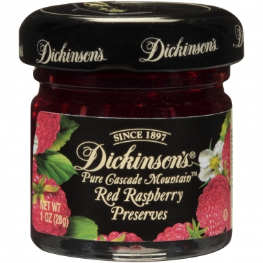 Dickinson's® Single Serving Cascade Mountain™ Red Raspberry Preserves (1 oz) - 72 Count
