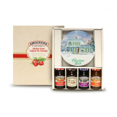 Smucker's 2019 Christmas Plate and Preserves Gift Box