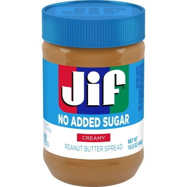 Jif Creamy No Added Sugar Peanut Butter 15oz