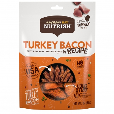 Rachael Ray Nutrish™ Turkey Bacon Grain Free Dog Treats, Hickory Smoked Turkey Bacon Recipe (3oz)