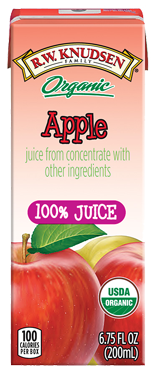 R.W. Knudsen Family® Organic Apple Juice Boxes;6.75 oz. (Pack of 4)