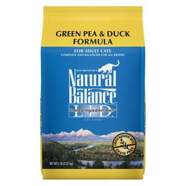 Natural Balance® L.I.D. Limited Ingredient Diets® Green Pea & Duck Dry Cat formula 10 lb. Bag
