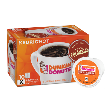 Dunkin' Donuts® 100% Colombian K-Cup® Pods (10 Count)