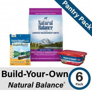 Build-Your-Own Natural Balance Pantry Pack for Dogs (6 Pack)