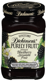 Dickinson's® Purely Fruit® Seedless Blackberry Spreadable Fruit (9.5 oz)