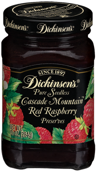 Dickinson's® Seedless Cascade Mountain™ Red Raspberry Preserves (10 oz)