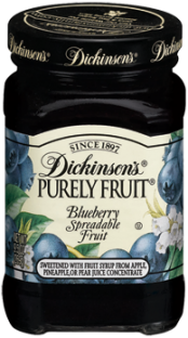 Dickinson's® Purely Fruit® Blueberry Spreadable Fruit (9.5 oz)