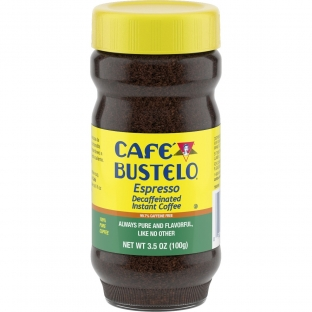 Café Bustelo® Espresso Decaffeinated Instant Coffee 3.5 oz. Jar