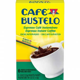 Café Bustelo® Espresso Decaffeinated Instant Coffee Single Serve Packets 6ct Box