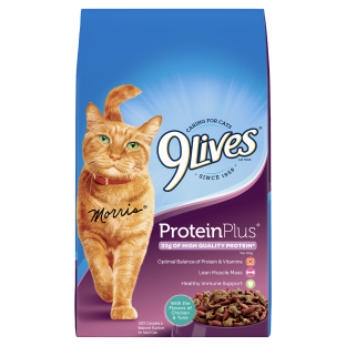 9Lives® Protein Plus™ Dry Cat Food;3.15 lb Bag
