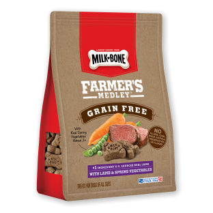 Milk-Bone® Farmer's Medley™ Grain Free Biscuits With Lamb & Spring Vegetables (12 OZ)