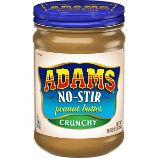 Adams No Stir Crunchy Peanut Butter