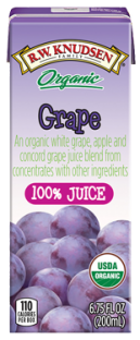 R.W. Knudsen Family® Organic Grape Juice Boxes;6.75 oz. (Pack of 4)