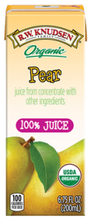 R.W. Knudsen Family® Organic Pear Juice Boxes;6.75 oz. (Pack of 4)