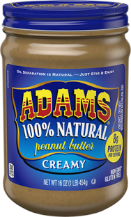 Adams® Natural Creamy Peanut Butter (16 oz)