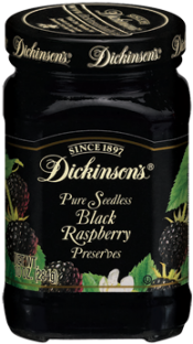 Dickinson's® Seedless Black Raspberry Preserves (10 oz)