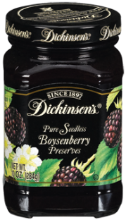 Dickinson's® Seedless Boysenberry Preserves (10 oz)