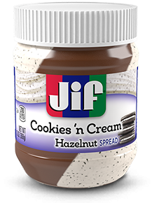 Jif® Cookies 'n Cream Flavored Hazelnut Spread (13 oz)