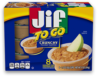 Jif To Go® Crunchy Peanut Butter;1.5 oz Cups (8 Count)