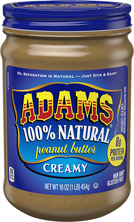 Adams® Natural Creamy Peanut Butter